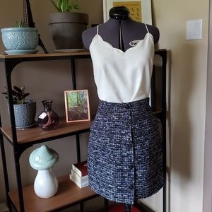 Banana Republic Tweed Mini Skirt TALL
